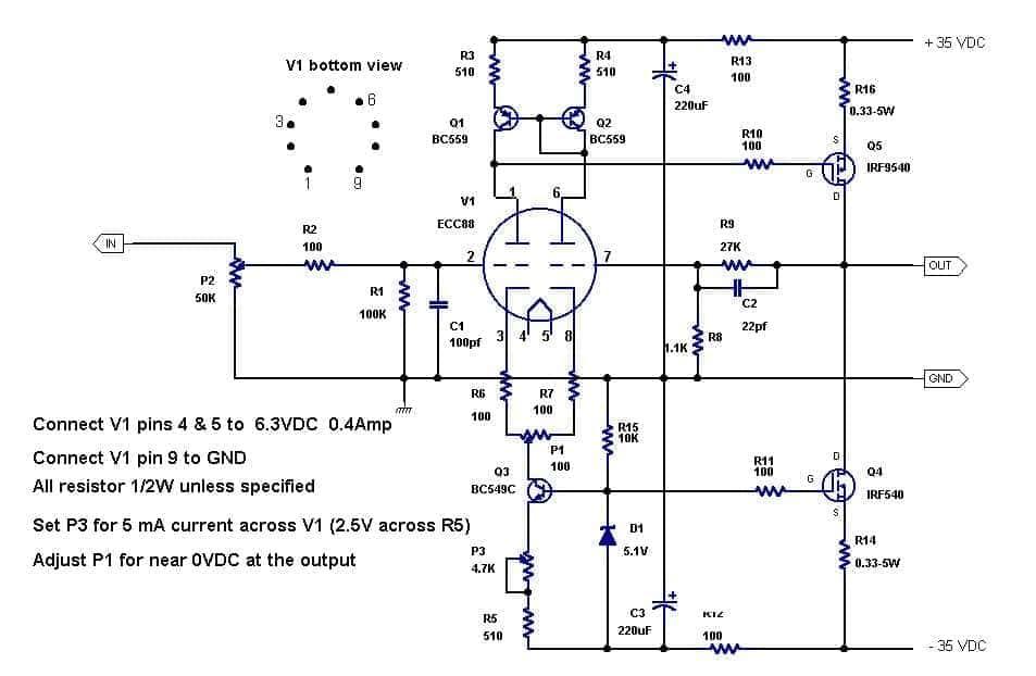 TUBE/MOSFET/BJT hibrid amp.