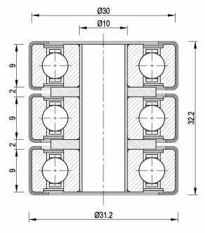 Izolacione podloske 6200 ZZ 3kom.jpg